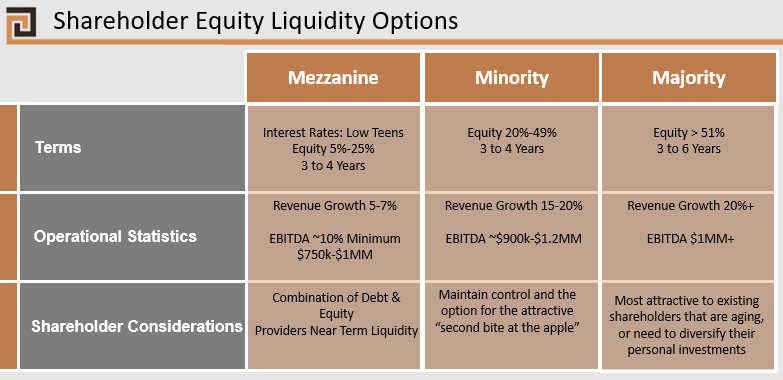 Shareholder Equity Liquidity Options Alternatives